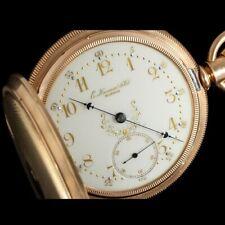 1883 E. HOWARD & Co. Antique 18 Size Pocket Watch - Fancy Dial - 14KGold