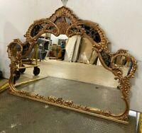 Union City Mirror & Table Co. Gold & Black Dresser Mirror