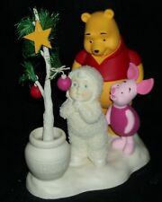 Disney Snowbabies Winnie The Pooh Piglet Dept 56 Knickknack Disneyana Xmas Rare