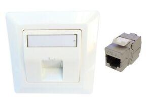 RJ45 Keystone Module Jack + 1x UP-K LAN Anschlussdose Netzwerkdose 1-fach