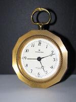 SWISS MADE 8-Day 7-Jewel Solid Brass Alarm Clock Hamilton - Glow -Needs Cleaning