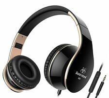 Sound Intone I65 Foldable Headphones with 3.5mm audio Cable, Lightweight Over-ea