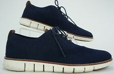 Cole Haan ZeroGrand Men's Sz 11 M Blue Knit Brogued Lace Up Wingtip Oxford Shoes