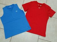Lot of 2 Women's M/Girl's XL Under Armour Running Tennis Athletic Yoga Shirts