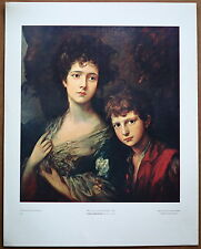 Thomas Gainsborough Linley and her Brother 1st Prnt Ltd. Ed Orig 1960 Litho