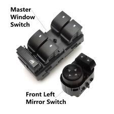 Master Window Switch & Mirror Switch Front Left for GMC Sierra Chevy Silverado