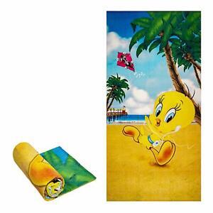 Licensed Tweety Bird and Sylvester iPod  Fiber Reactive Beach/Bath Towel