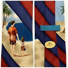 TOMMY BAHAMA Men's Silk Tie, Family Beach Dad & Daughter Stripe