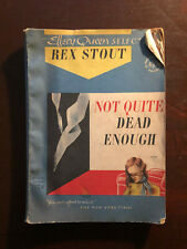ELLERY QUEEN REX STOUT - NOT QUITE DEAD ENOUGH & BOOBY TRAP 1944