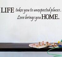 Spruch Wandtattoo Wandsticker Aufkleber Zitat Worte Wohnzimmer Life Sticker