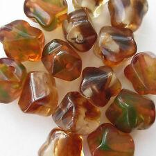 30 Beautiful Flower Beads Amber Like Chunky Large 20 x 22mm Craft Jewellery