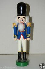 Unique Custom Blue & White Old Man Toy Soldier Christmas Nutcracker Rare 14""