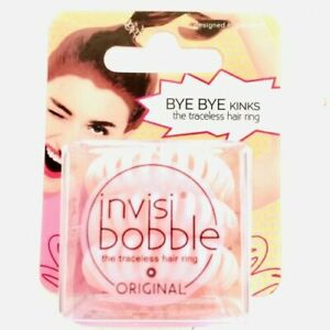 Invisibobble The Traceless Hair Ring Original 3 Pink Rings - US SELLER