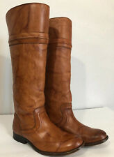 Frye Melissa Leather Women Tall Riding Boots Brown Size 6 B