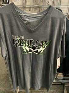 New Arctic Cat Men's Team Arctic V-Neck T-Shirt ~ Gray ~XL~ # 5279-246