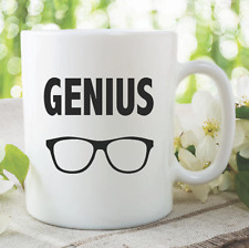 Genius Mug Gift Glasses Geek Nerd Clever Ceramic Coffee Quote Mug Tea WSDMUG921