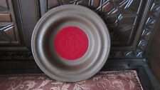 Church Offering Plate/ Collection Plate, Resin- Woodgrain, Red Felt Bottom