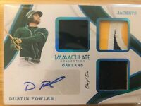 Dustin Fowler 2019 Panini Immaculate Jackets 1/1 Oakland A's Autograph
