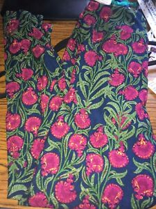 Lularoe Leggings TC Blue Green Purple Flowers NWOT