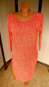 C.M. Schönes Kleid/Jerseykleid mit Dots, alba moda, koralle/weiß, Gr. 44 (°214)