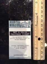 DISNEYLAND HAUNTED MANSION FASTPASS FAST PASS NOT VALID