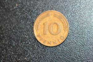 1950 BUNDESREPUBLIK DEUTSCHLAND 10 PFENNIG D COIN!    CC458XXX