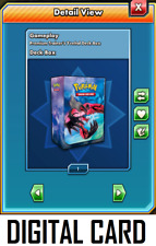 Pokemon TCG ONLINE Yveltal DIGITAL CARD Deck Box and Card Sleeves