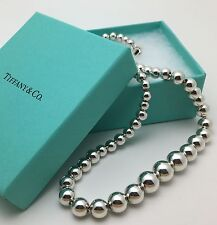 Tiffany & Co Sterling Silver Bead Ball Graduated Necklace