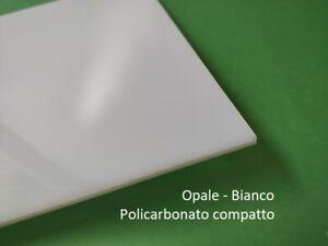 Policarbonato COMPATTO OPALE (bianco) spessore 2, 3, 4, 5 mm. Protetto UV.
