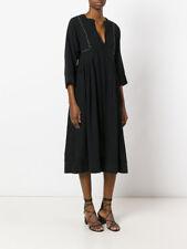 Isabel Marant Negro Alayne vestido largo FR 38 Reino Unido 10 | Camisa Chaqueta de Abrigo Zapatos Botas