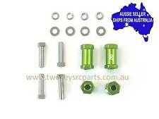 Wheel Track Widening Kit for 10 RC Crawlers Axial Losi GMade Vaterra Green +20mm