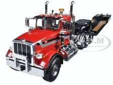 PETERBILT 367 TRI AXLE LOWBOY TRAILER RED/BLACK 1/34 DIECAST FIRST GEAR 10-4070