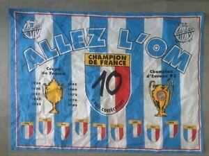 Grand drapeau OM Marseille Coupe d'Europe 1993 Retro Maillot Vintage Collector