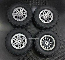 Alloy 6 Spoke Wheels + Rubber Radial Tires for TRX4 Scale Trail Crawler