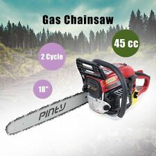 "Heavy Duty 18"" 45cc Gas Powered Chainsaw w/ 2-stroke Engine EPA Approved"