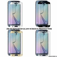 FULL CURVED 3D Tempered Glass Screen Protector For SAMSUNG  S7 Edge GOLD