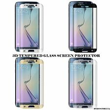 New FULL CURVED 3D Tempered Glass Screen Protector For SAMSUNG S6 Edge DARK BLUE