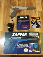 Nintendo NES - Zapper (Light Gun) Controller w/Box and Manual Gray Rare NES-005