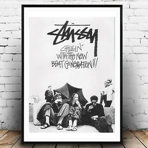 STUSSY Vintage Ad Fashion A3 Poster, Wall Art, Prints for Walls, Home Decor