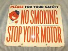 1950's Union 76 No Smoking / Stop Your Motor Minuteman Sign, Double Sided