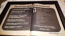 It Had To Be You Rare Original 1981 Broadway Promo Poster Ad Framed!