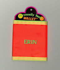 Personally Yours Wallet ~ ERIN ~ Stocking Stuffer ~ Orange Personalized Wallet