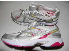 Womens Shoes DANSKIN NOW Running ATHLETIC White PINK Silver 6.5 Lace Up