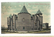 First  U B Church Hartford City IN   1916    Postcard 6103