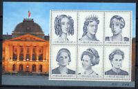 Belgio 2001 Mi. Bl.79 Foglietto 100% Nuovo ** Regina