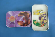 HARDROCK Cafe Pin set of 3 PHILLIPPINES 3 Anniv Hard Rock Pins New in TIN BOX