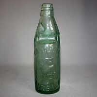 ANTIQUE VTG CODD BOTTLE LAYCOCKS CHESTER TRADE MARK LION EMBOSSED W/ MARBLE