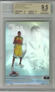 2007 Kevin Durant Stadium Club Refractor RC- BGS 9.5 w/two 10 subs... #786/999