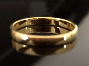 Wedding Band Barrel 2.5mm In 18ct Yellow Gold, N/tags