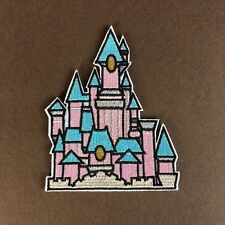 DISNEYLAND PARIS INSPIRED PRINCESS CASTLE EMBROIDERED APPLIQUÉ PATCH SEW IRON